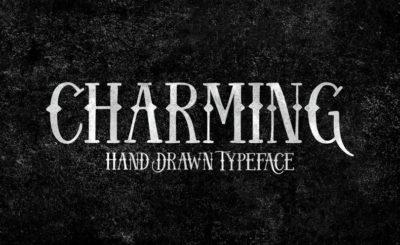 Charming hand drawn font