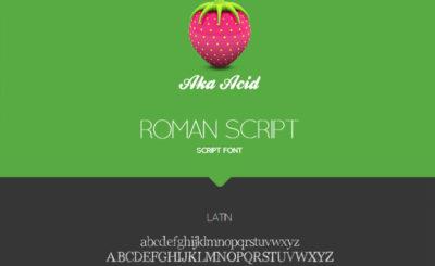 Roman Script Free Font