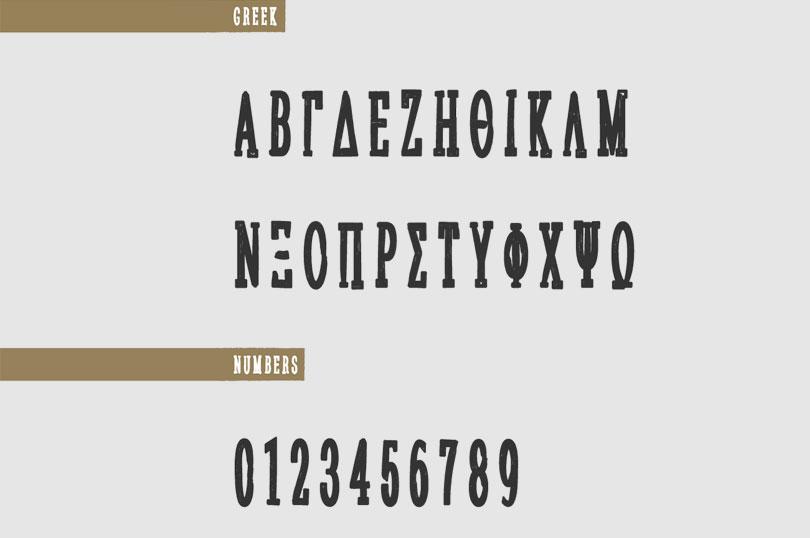 Sanek free font
