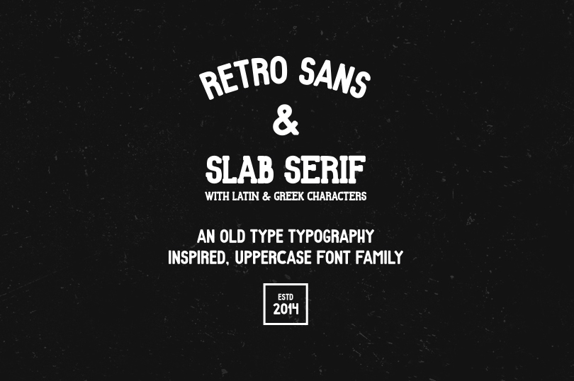 Δωρεάν Γραμματοσειρά Retro Sans & Slab Serif