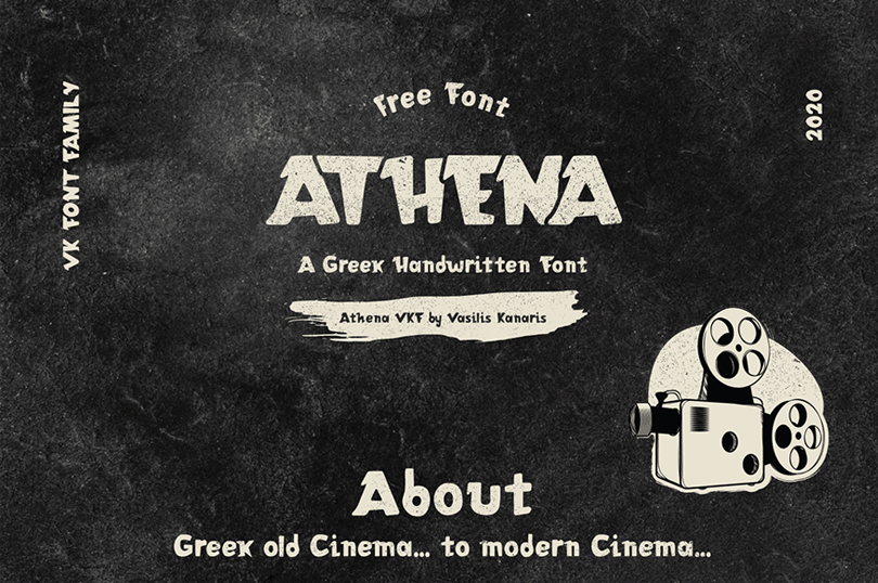Athena VKF Free Font