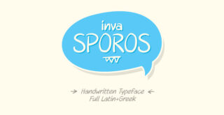 invaSporos free typeface